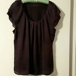 Woman's Violet & Claire burgundy top sz XL